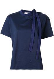 asymmetric tie detail T-shirt