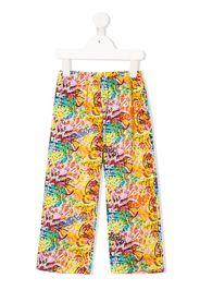 Pantaloni con stampa stile graffiti