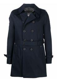 TRENCH LONDON Rake-slim trench coat - Blu