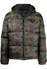 True Religion camouflage-print puffer jacket - Verde