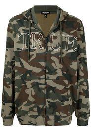 True Religion camouflage-print zipped hoodie - Multicolore