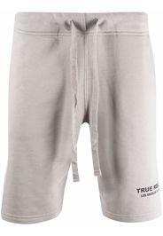 True Religion organic cotton-blend logo-detail shorts - Grigio