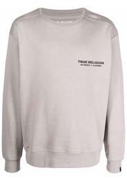 True Religion logo-print sweatshirt - Grigio
