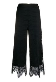 lace-bottom cropped trousers