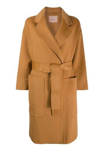 Cappotto con cintura