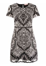 TWINSET embroidered short-sleeve mini dress - Nero