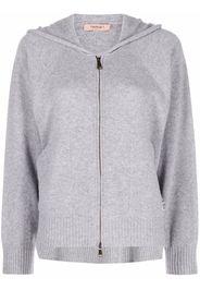 TWINSET knitted wool hoodie - Grigio