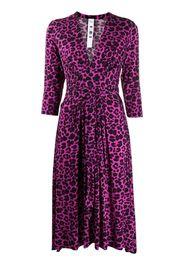 Vestito midi leopardato