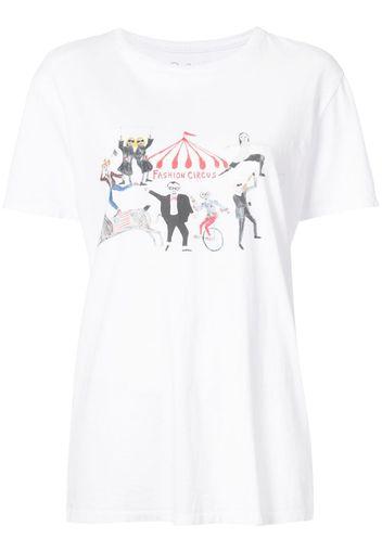 fashion circus print T-shirt