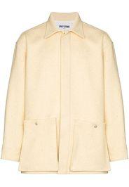 patch-pocket wool shirt jacket