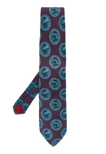 Cravatta anni '90 con stampa