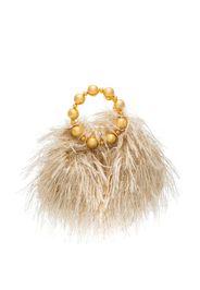 Vanina Juliette feather clutch bag - Toni neutri
