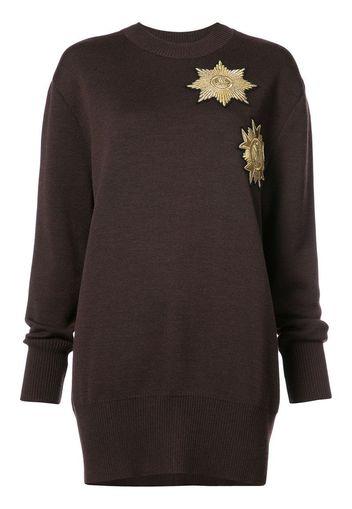 Maglione con toppe metallizzate vestibilità morbida