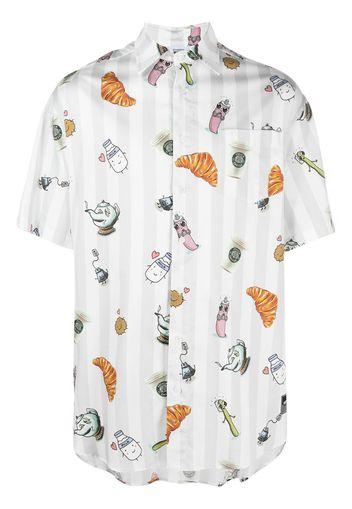 breakfast print cotton shirt