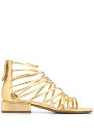 metallic 30mm sandals