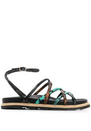 snakeskin-effect flat sandals