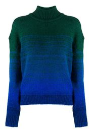 two-tone long-sleeve jumper