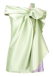 Vestito monospalla con fiocco