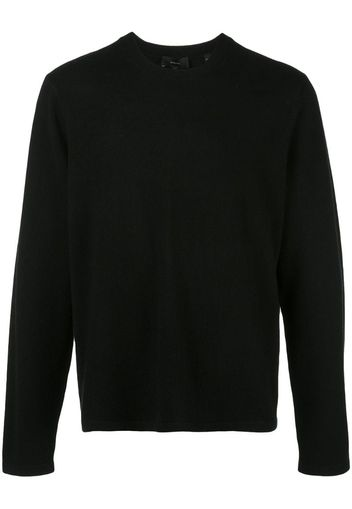 long-sleeve fitted sweater