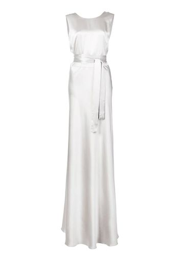 long belted gown