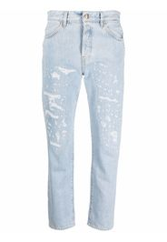 WASHINGTON DEE CEE distressed straight-leg jeans - Blu