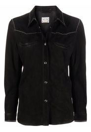 WASHINGTON DEE CEE long-sleeve western suede shirt - Nero