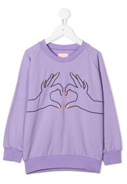Love embroidered sweatshirt