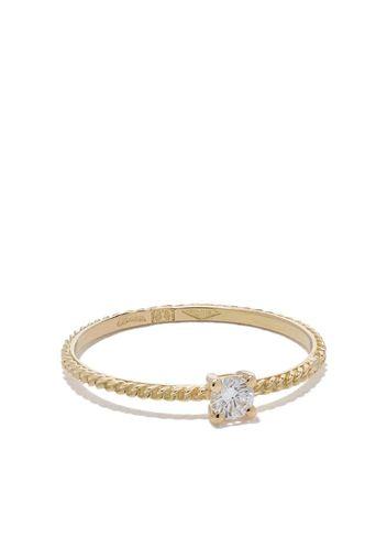 Anello in oro 18kt con diamanti Uzerai