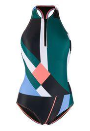 Costume intero con design color-block