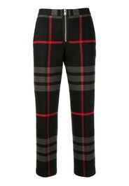 Pantaloni tartan crop