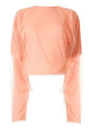 mesh-panelled jersey top