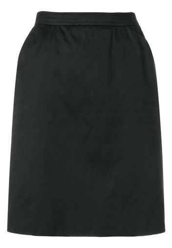 high rise straight skirt