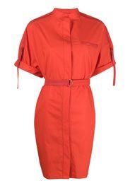 short-sleeve belted dress