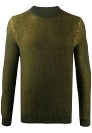 crew neck waffle-knit sweater