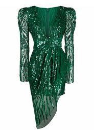 Zuhair Murad Vestito con paillettes - Verde