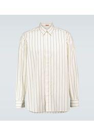 Camicia a righe in cotone