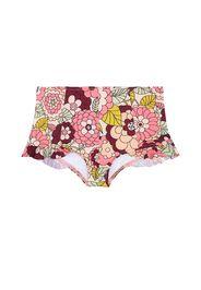 Slip bikini a stampa floreale