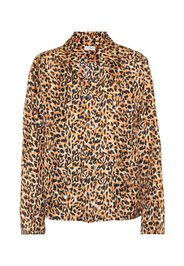 Blusa a stampa animalier in seta