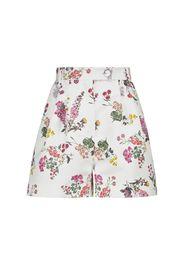 Shorts con motivo floreale