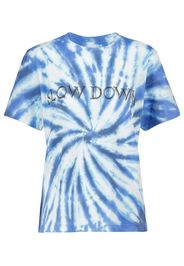 T-shirt Zewel a stampa tie-dye in cotone