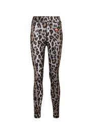 Leggings con stampa leopardata