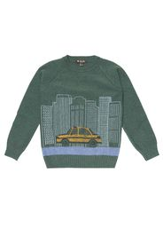 Pullover Street Skyline in cashmere