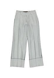 Pantaloni Lorraine a righe in seta