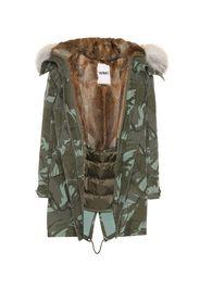 Parka Army in cotone con pelliccia