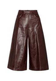 Pantaloni culottes in pelle