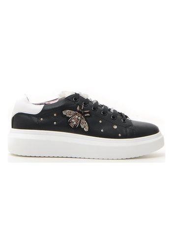Pushy Wamp Sneakers Donna Nero In Materiale Sintetico Con Chiusura Stringata