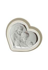 Icona Sacra famiglia In argento e legno, da 13,9X12,9 cm