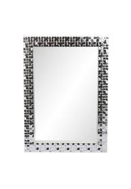Specchio da parete Beltrami con cornice in argento a mattoncini da 50x70 cm