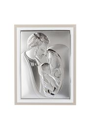 Icona Sacra Famiglia 20,6x26,7 cm Beltrami, con argento miro silver
