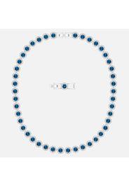 Collana Angelic, azzurro, Placcatura rodio